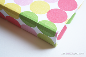 Zoo Polka Dots Pink Modern Baby Book - Our Story Paper Co.