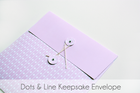 Lines and Dots Keepsake Envelopes - Our Story Paper Co.
