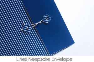 White Lines on Colored Background Keepsake Envelopes - Our Story Paper Co.