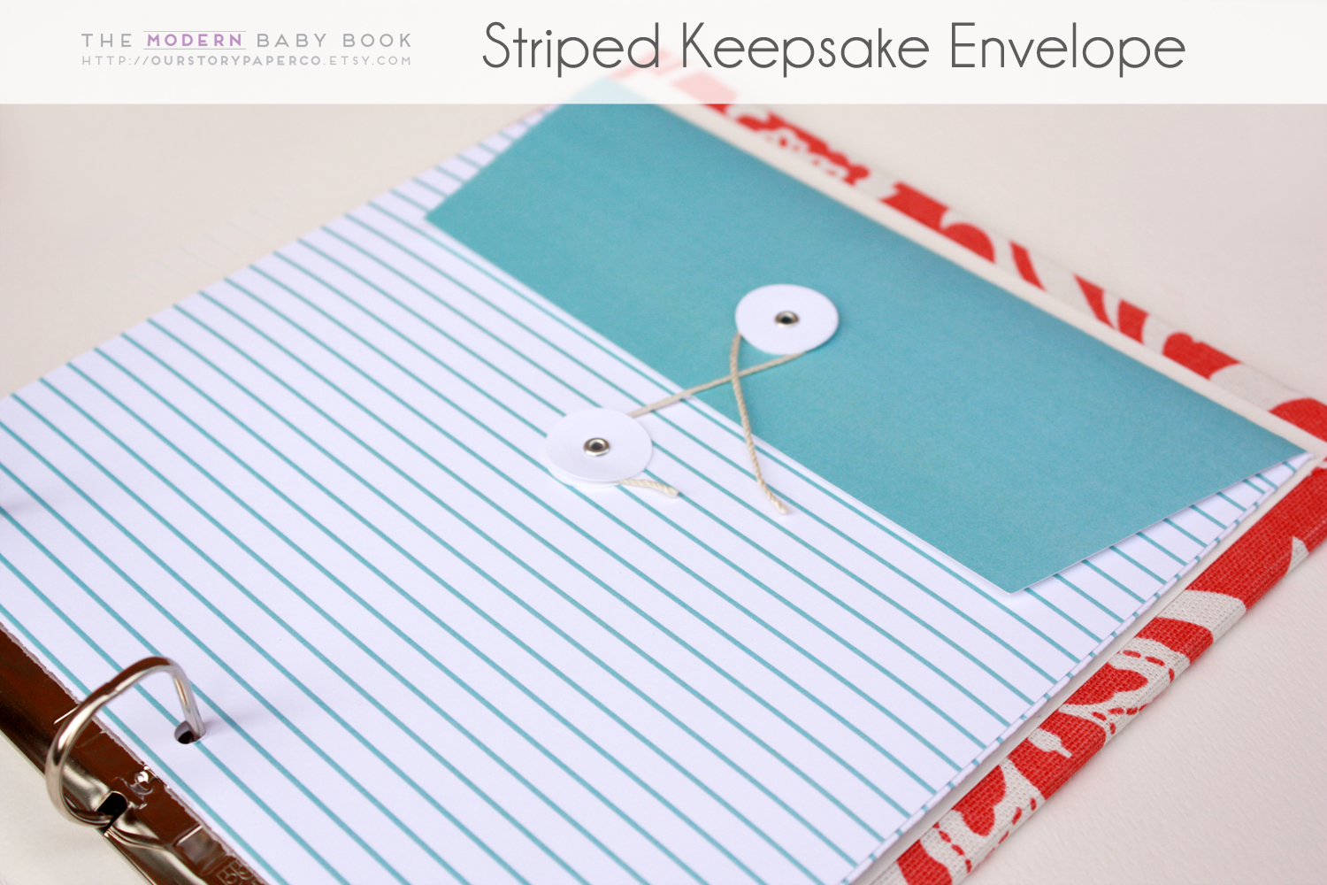Colored Line on White Background Keepsake Envelopes - Our Story Paper Co.