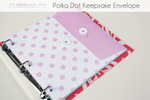 Polka Dot Keepsake Envelopes // Modern Baby Book - Our Story Paper Co.