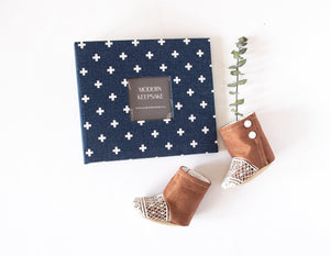 Navy Criss Cross Keepsake Album - Our Story Paper Co.