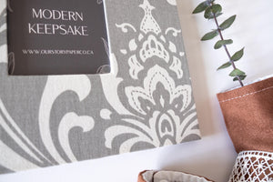Grey Damask Keepsake Album - Our Story Paper Co.