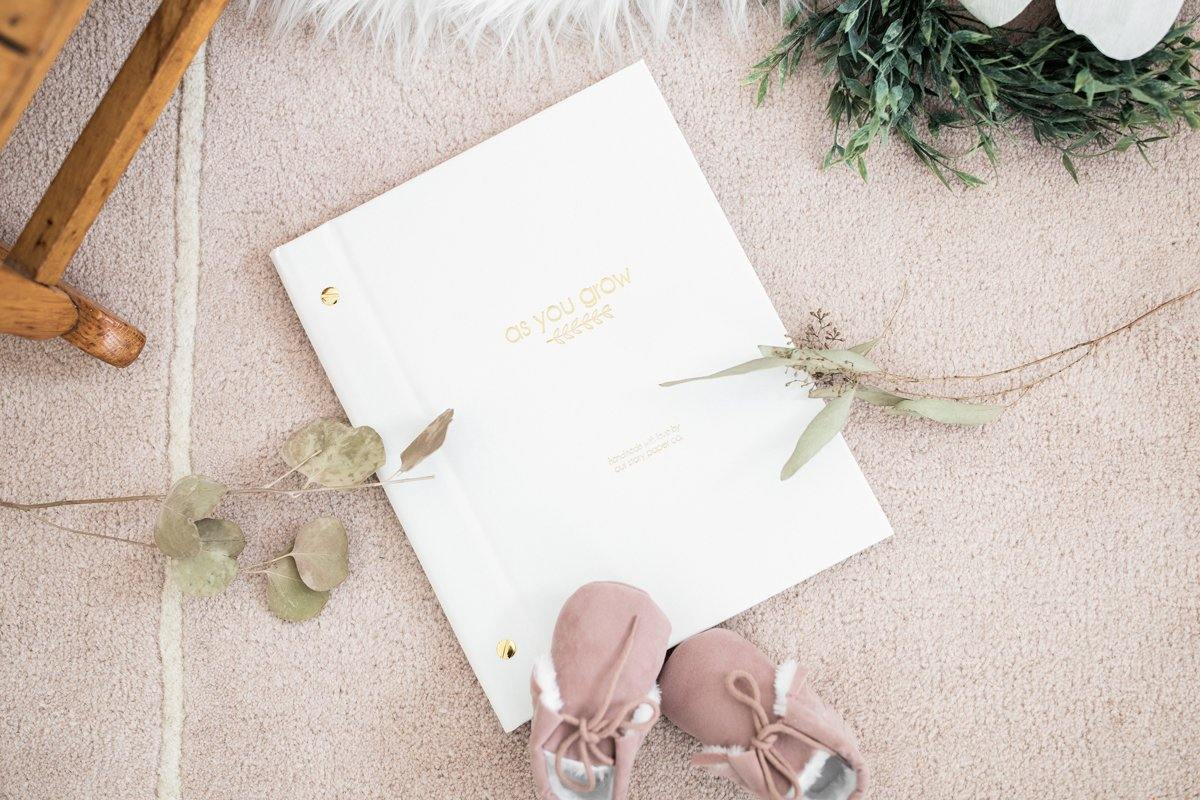as you grow modern baby book - Our Story Paper Co.