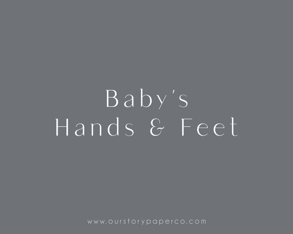 Hands & Feet Pack - Our Story Paper Co.