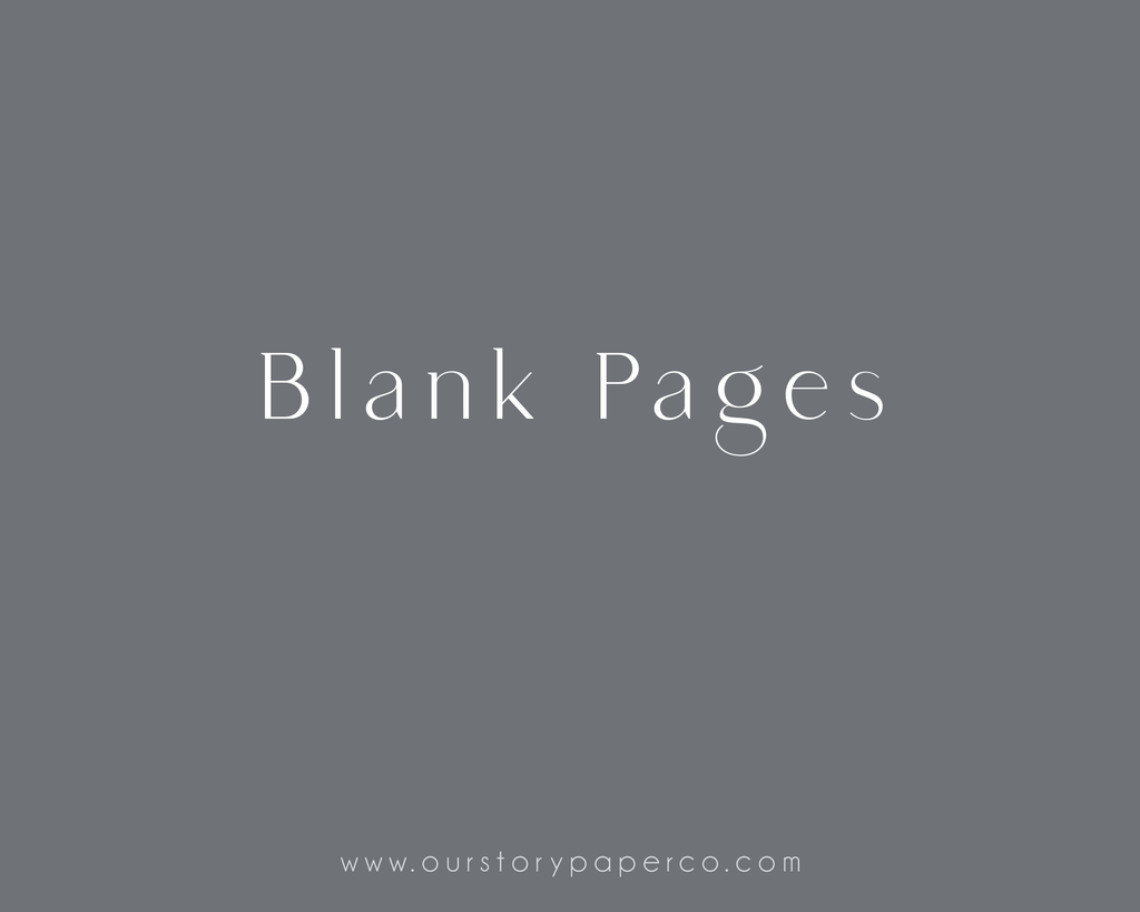 Blank Sheets - Our Story Paper Co.