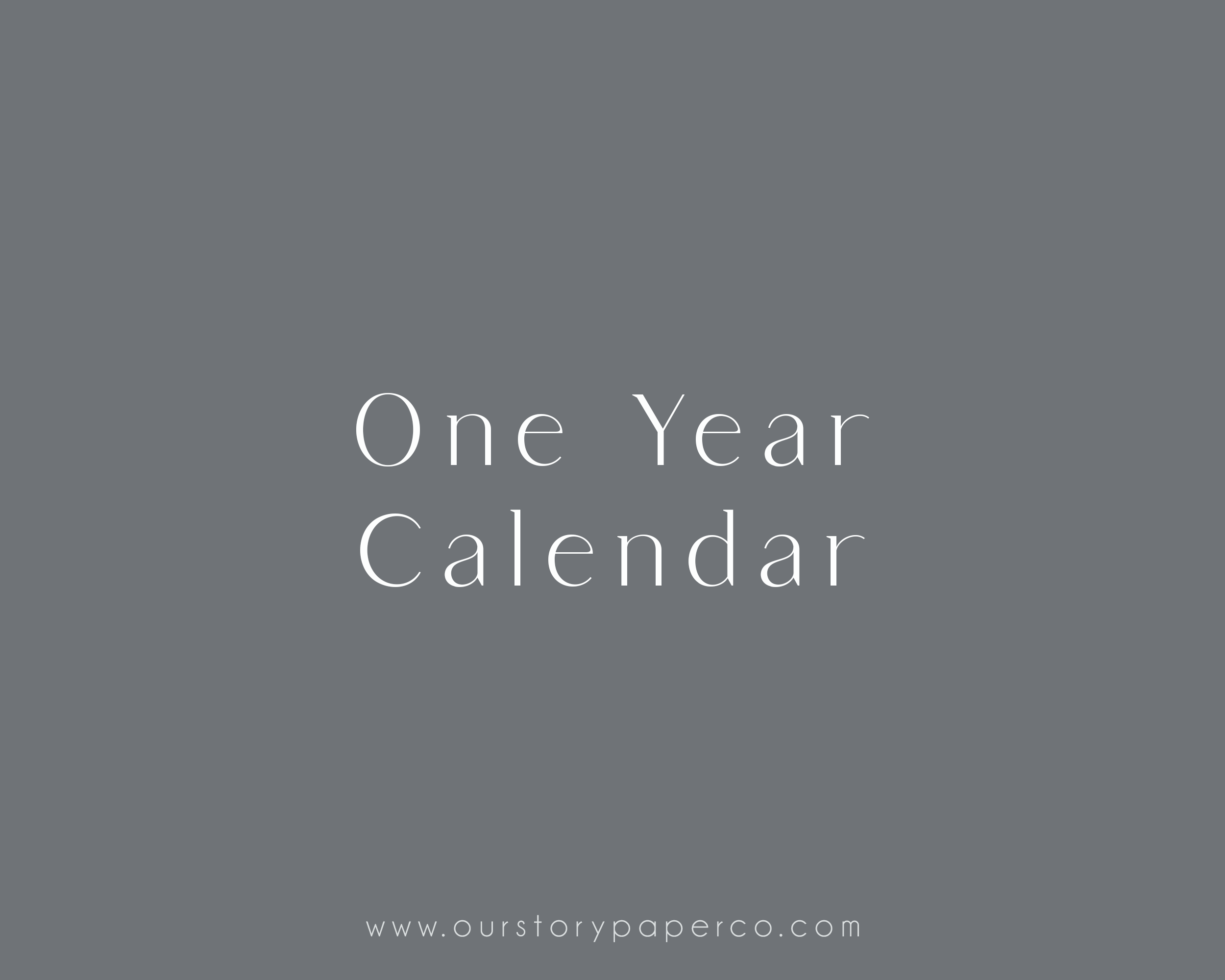 One Year Calendar Pack - Our Story Paper Co.
