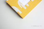 Yellow Elephant Modern Baby Book - Our Story Paper Co.