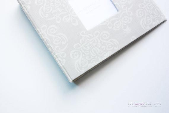 Natural Modern Medallion Swirl Modern Baby Book - Our Story Paper Co.