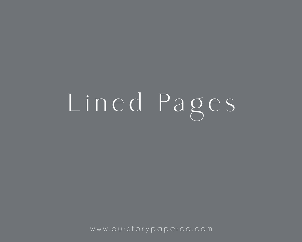 Lined Sheets - Our Story Paper Co.