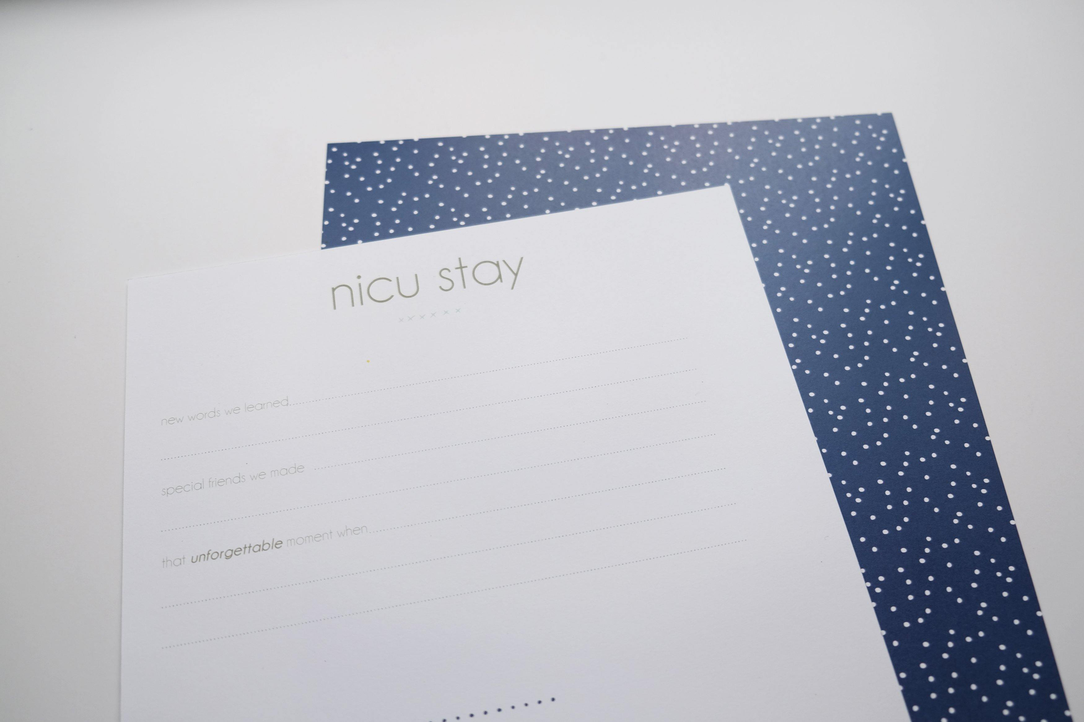 NICU pages - Our Story Paper Co.