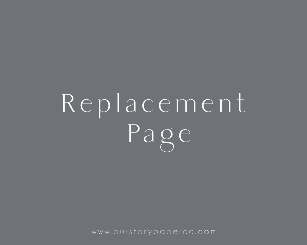 Replacement Page - Our Story Paper Co.