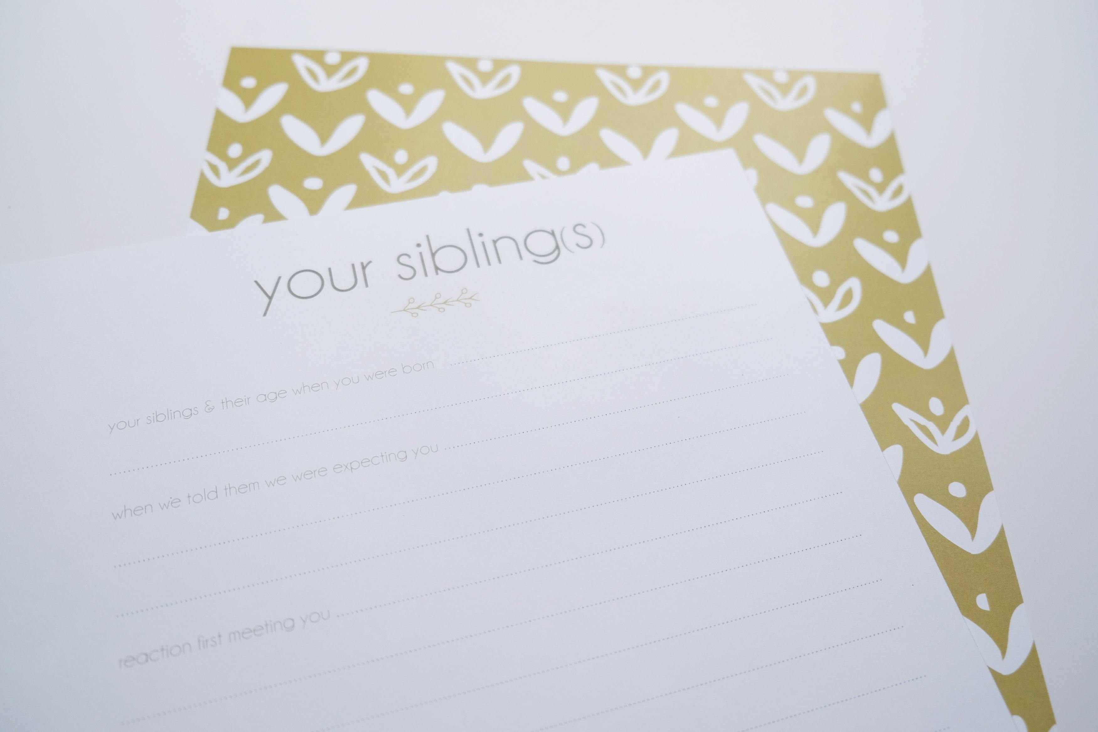 siblings page - Our Story Paper Co.