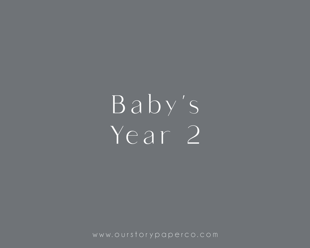 Baby's Year 2 Pack - Our Story Paper Co.