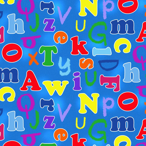 Alphabet Friends Alphabet Blue