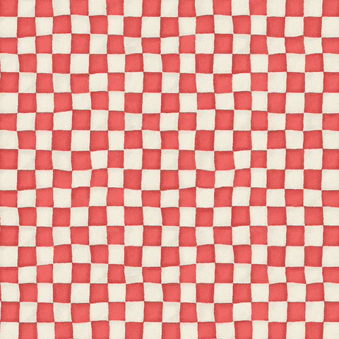 Adventures in Wonderland Textured Checkerboard Red