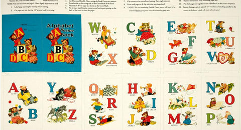 Alphabet Story Book 60x110 cm Panel