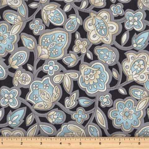Andalusia Medium Floral 25532-GRY