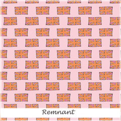British Invasion  British Flag Pink 50 cm remnant