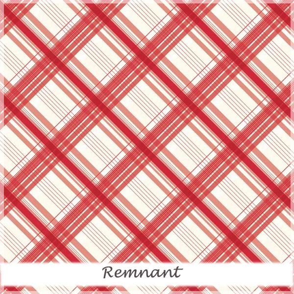 British Invasion Plaid Red 28 cm remnant