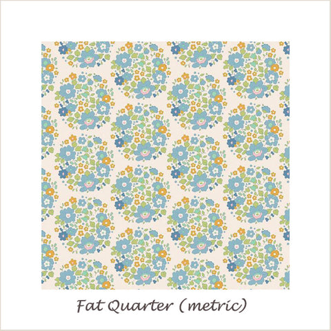 Tilda Bumblebee Flower Nest Blue Fat Quarter