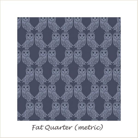 Enchanted Forest 6005/93 Owls on Midnight Blue Fat Quarter