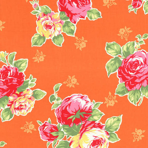 Flower Sugar Spring 2014  LargeFloral Bouquet Orange