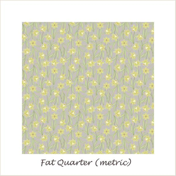 Flo's Little Flowers 6024/32 Daffodils on Natural Fat Quarter