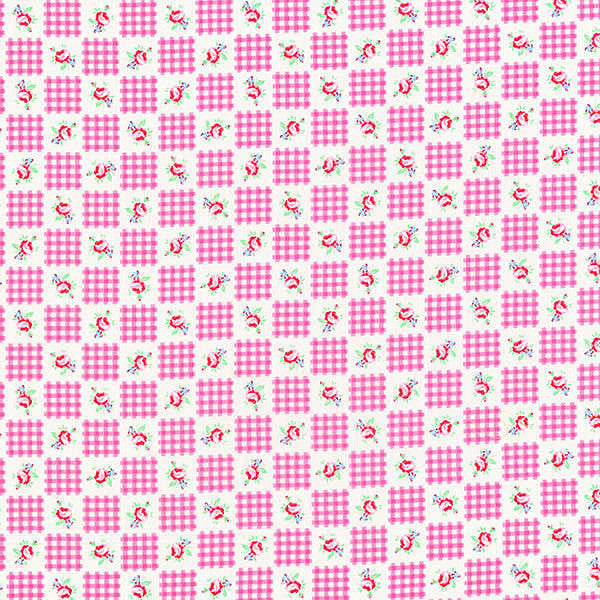Flower Sugar 2013 Fall  Pink CheckFloral
