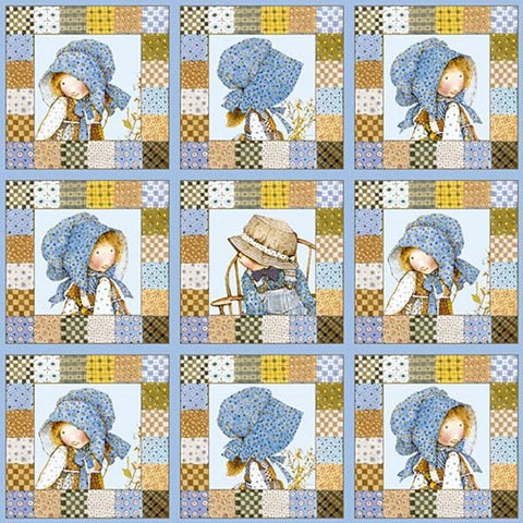 Holly Hobbie Character Patchwork Blue