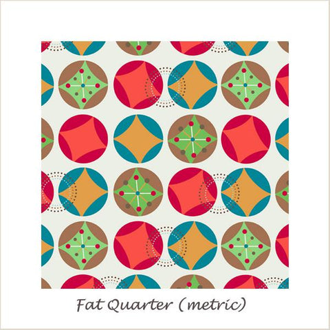 Hooty Hoot Returns Starburst Cream Fat Quarter