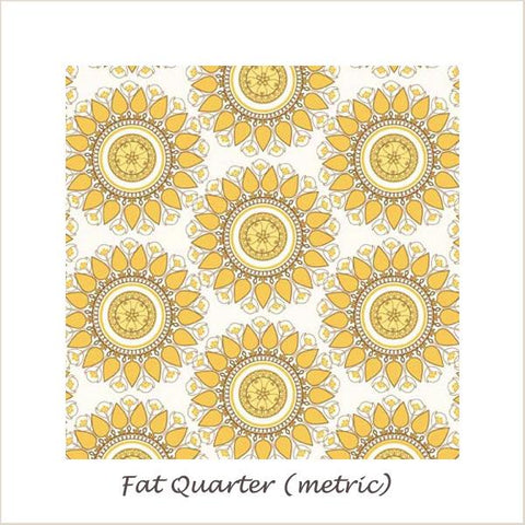 Indie Chic Circle Yellow Fat Quarter