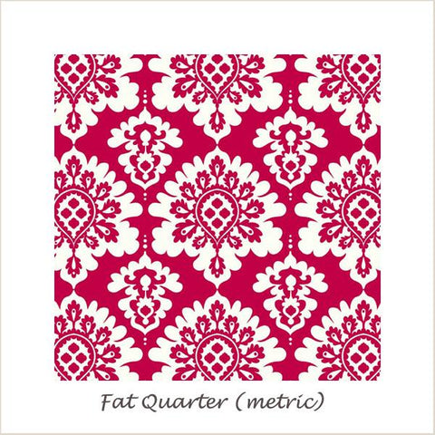 Lost & Found Love Damask Red Fat Quarter