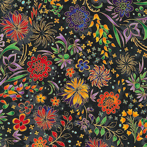 Lumina 2 15916-2 Flowers Black