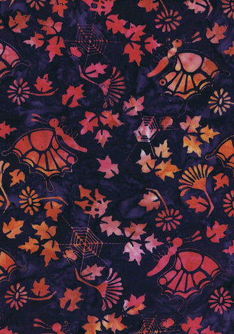 Magical-Garden-Batiks-Butterflies-Sunset-Gold-on-Deep-Purple