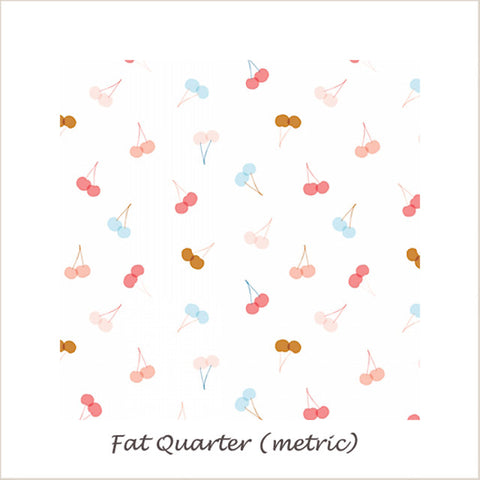 Millefleur Cherries on White Fat Quarter