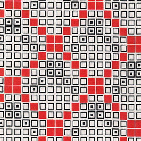 Mod Tex  14785 3 Squares Red
