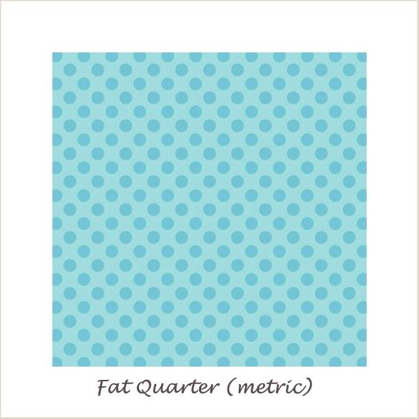 My Sunshine Dot Blue Fat Quarter
