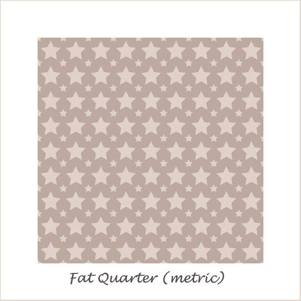 One for the Boys Stars Grey Fat Quarter