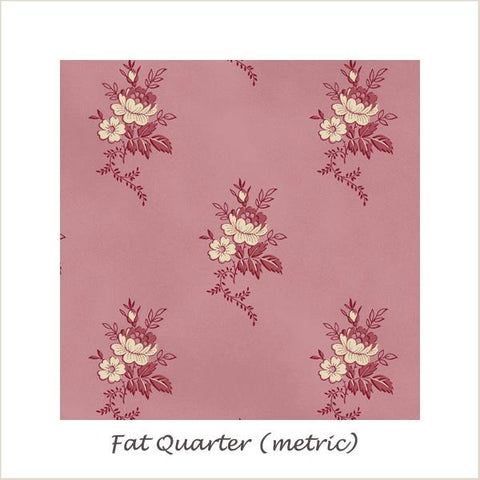 Savannah Classics 484 Pink Flowers Fat Quarter