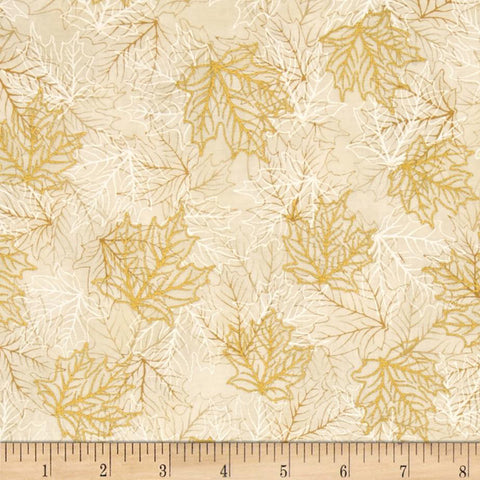 Shades of the Season Metallic Leaf Ivory 16042-15