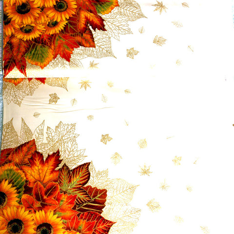Shades of the Season Sunflower Garland Panel 60x110 cm