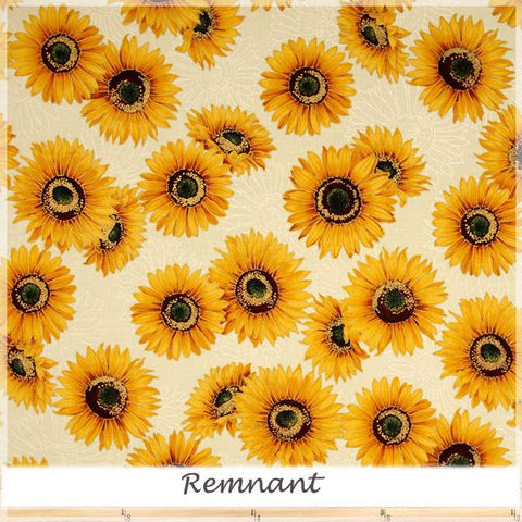 Shades of the Season Metallic Sunflowers Ivory 15216-15 22 cm remnant