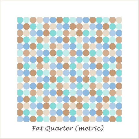 Snips & Snails Dots Blue Fat Quarter