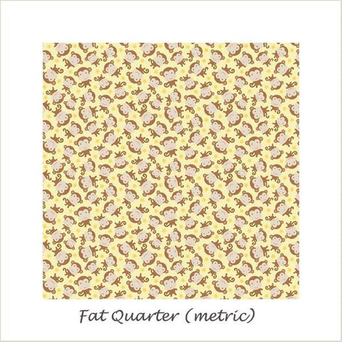 Snips & Snails Monkeys Yellow Fat Quarter