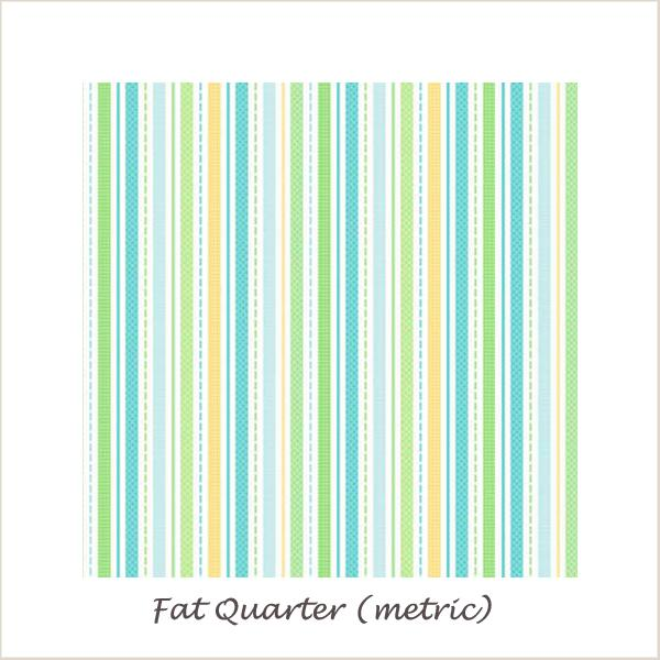Snips & Snails Stripes Yellow Fat Quarter