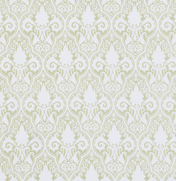 Sunshine Rose  Damask in Green