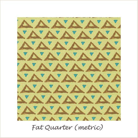 Temple Pyramids in Topaz Fat Quarter