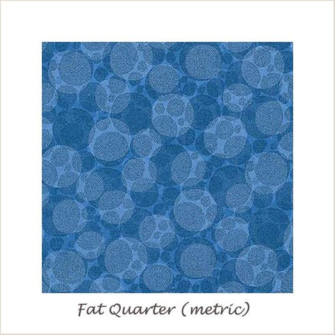 Texture Spectrum 15823-4 Blue Textured Bubbles Fat Quarter