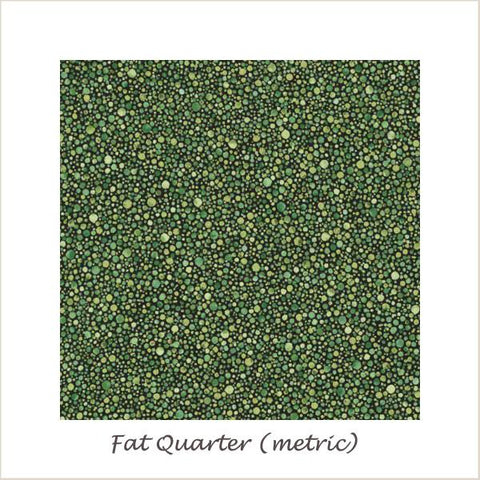 Texture Spectrum 15828-47 Grass Green Dots Fat Quarter